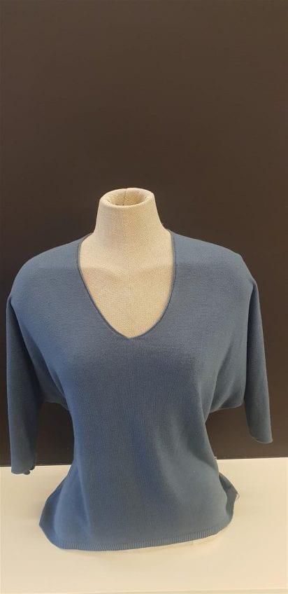 Pull jeansblauw