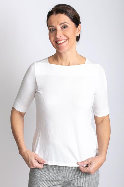 T-shirt met vierkanten hals