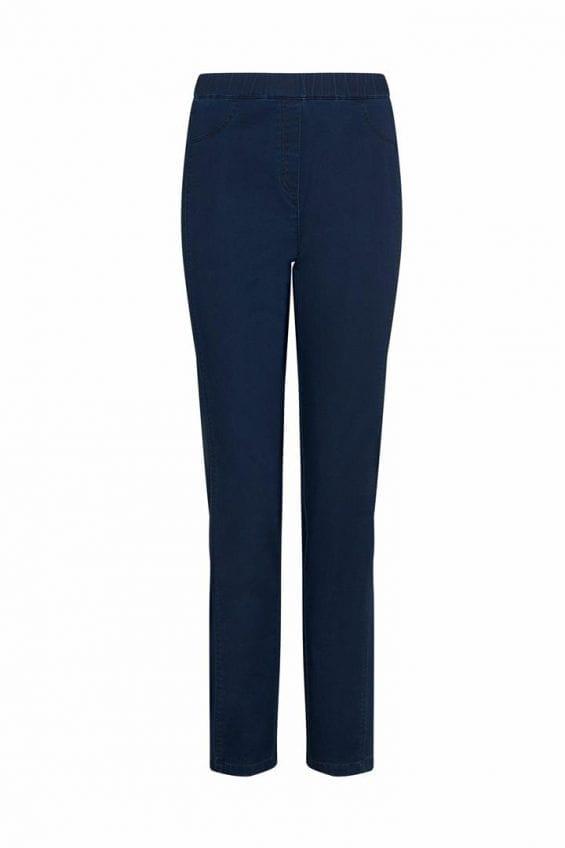 Elastische jeans met elastieken tailleband