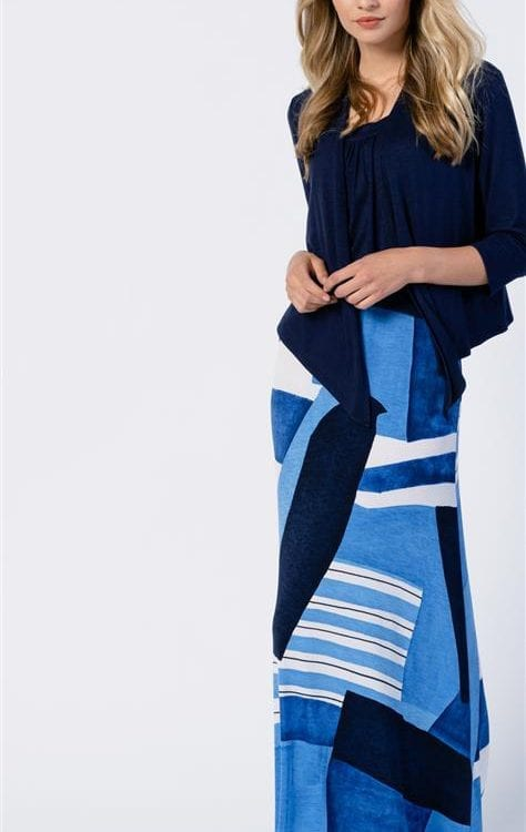 Lange rok blauw