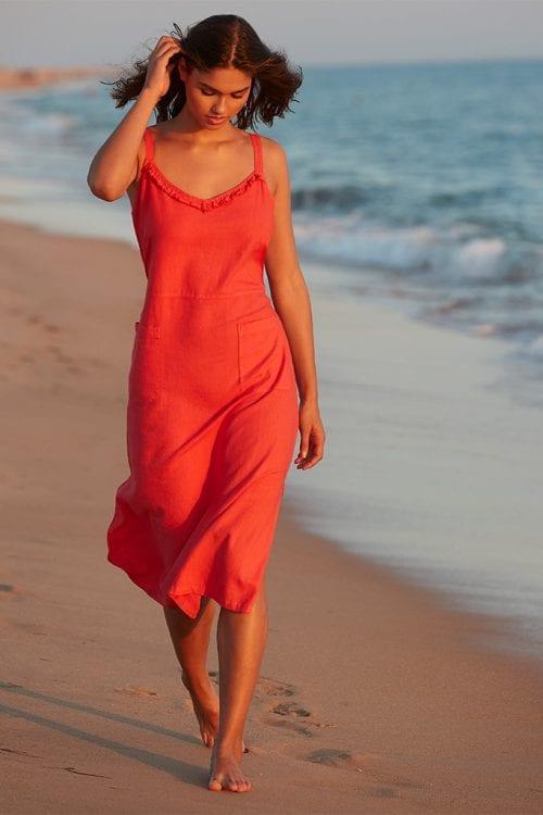 Bain de soleil koraalkleur