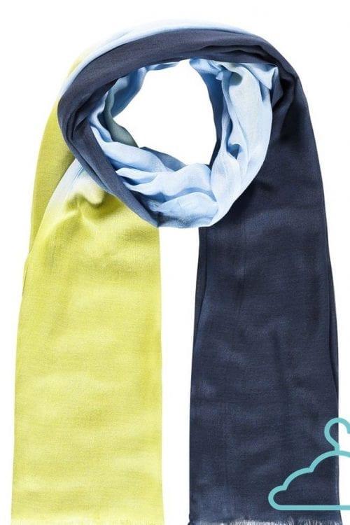 Sjaal dégradé limoenblauw