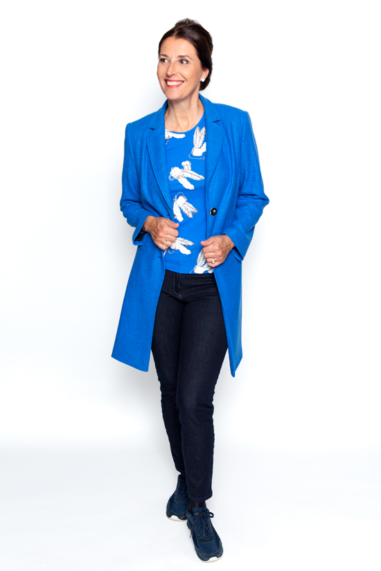 Kobaltblauw shirt
