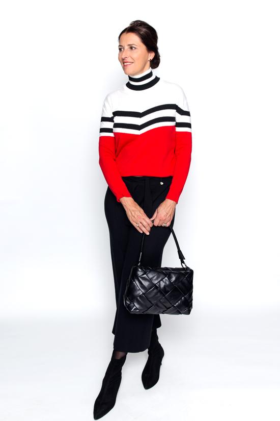 Zwarte 3/4 tricot broek