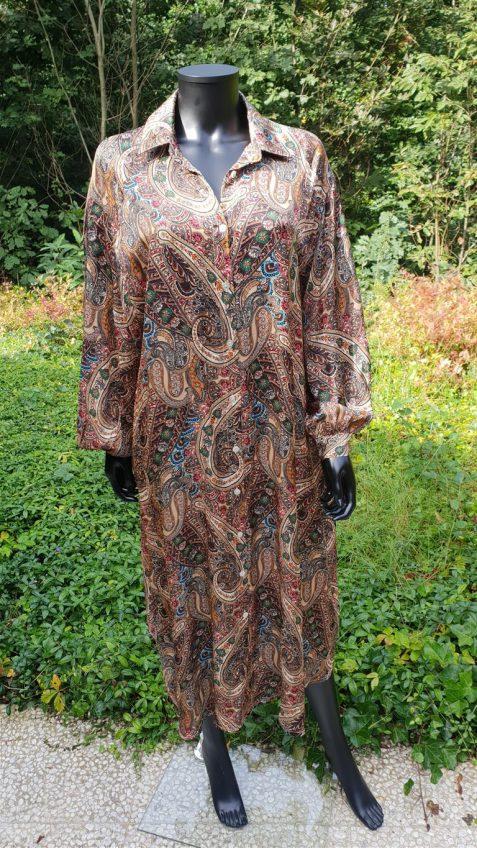 Oversize jurk in cashmere print