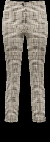 Elastische broek ruit zonder tailleband