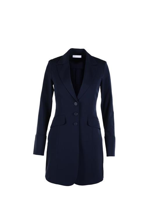 Lange blauwe blazer