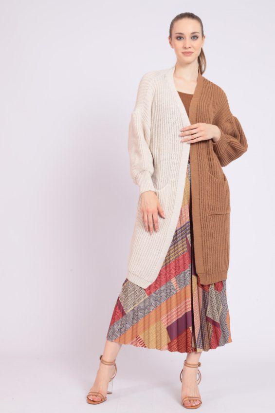 Bicolor cardigan
